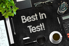 Black Chalkboard with Best In Test Concept. 3D Rendering. Royalty Free Stock Image