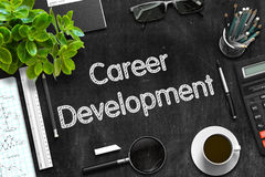 Black Chalkboard with Career Development. 3D Rendering. Royalty Free Stock Photo
