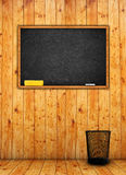 Black chalkboard in classroom Royalty Free Stock Images