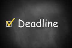 Black chalkboard deadline checkbox Royalty Free Stock Image