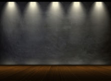 Black chalkboard in empty room Royalty Free Stock Photography