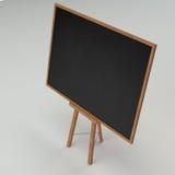 Black chalkboard isolated Stock Photography