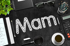 Black Chalkboard with Mam. 3D Rendering. Stock Image