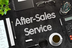 Black Chalkboard with After-Sales Service. 3D Rendering. Stock Images