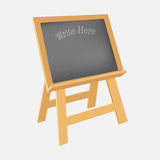 Black chalkboard stand. Royalty Free Stock Photo