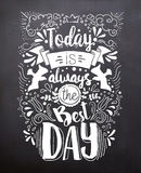 Black chalkboard Royalty Free Stock Image