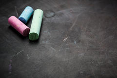 Black chalkboard texture. Royalty Free Stock Photography