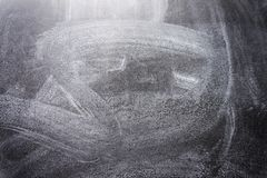 Black chalkboard texture. Abstract Chalk rubbed out on blackboard or chalkboard texture royalty free stock image