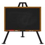 Black chalkboard wood frame on easel. Illustration Stock Photo