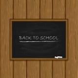 Black chalkboard on wooden background Stock Photo