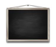 Black chalkboard in wooden frame Royalty Free Stock Photo