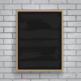 Black chalkboard with wooden frame Royalty Free Stock Photo