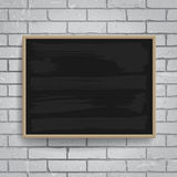 Black chalkboard with wooden frame Stock Photo