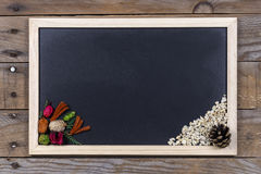 Black chalkboard with wooden frame. Royalty Free Stock Image