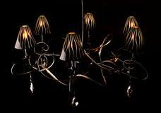 Black Chandelier contra un fondo negro Fotografía de archivo libre de regalías