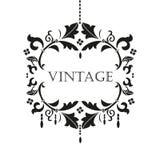 Black chandelier silhouette  logo Stock Photos
