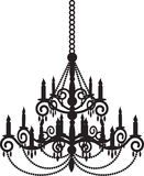 Black chandelier Royalty Free Stock Photo