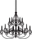 Black chandelier Royalty Free Stock Photo