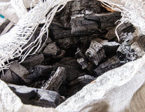 Black charcoal Royalty Free Stock Photography