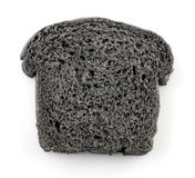 Black charcoal bread Stock Image