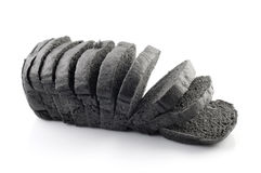 Black charcoal bread Royalty Free Stock Image