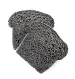 Black charcoal bread slices Royalty Free Stock Photos