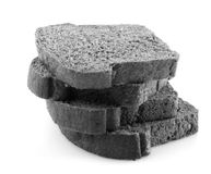 Black charcoal bread Royalty Free Stock Photography