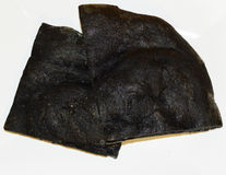Black charcoal  coal  cake Stock Image