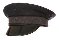 Black chauffeur fancy dress hat Royalty Free Stock Photo
