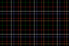 Black check fabric texture seamless background. Vector illustration. Flat design. No gradient. No transparent. EPS 10 Stock Photo