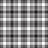 Black check fabric texture seamless pattern. Vector illustration Royalty Free Stock Image