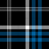 Black check pixel square fabric texture seamless pattern. Vector illustration Stock Photos