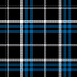 Black check pixel square fabric texture seamless plaid. Vector illustration Stock Images