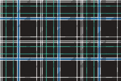 Black check plaid fabric texture seamless pattern Stock Photo
