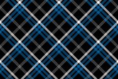 Black check seamless diagonal fabric texture background Royalty Free Stock Image