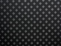 Black checkered pattern velvet Stock Photo