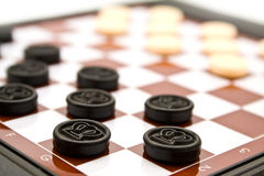 Black checkers Royalty Free Stock Photography