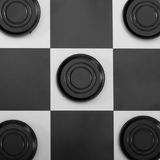 Black checkers background Royalty Free Stock Photos