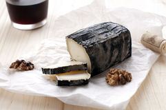 Black cheese. Traditional black cheese of Sardinia Stock Photos