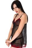 Black chemise Stock Photos