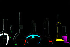 Black chemistry stock photos