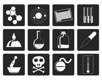 Black Chemistry industry icons Stock Photo