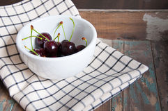 Black Cherries. Royalty Free Stock Image