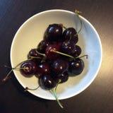 Black cherries stock photo
