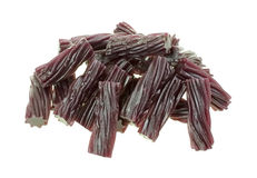 Black Cherry Licorice Sticks Stock Photo