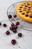 Black cherry pie Stock Photo