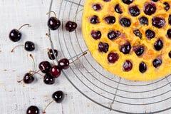 Black cherry pie Stock Image