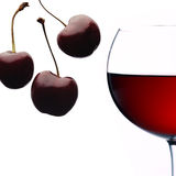 Black cherry and red wine Stock Photo