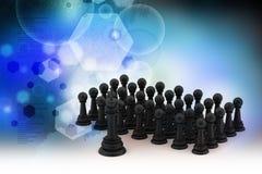 Black chess Stock Photos