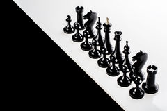 Black chess figures Stock Image